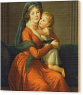 Portrait Of Princess Alexandra Golitsyna And Her Son Piotr Wood Print