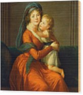 Portrait Of Princess Alexandra Golitsyna And Her Son Piotr Wood Print