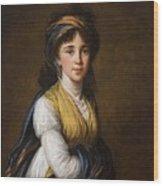 Portrait Of Princess Belozersky Lisabeth Louise Vige Le Brun Wood Print