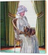 Portrait Of Prudence Wood Print