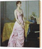 Portrait Of Rose Caron Wood Print