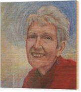 Portrait Of Ruth Sentelle Wood Print