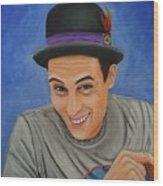 Portrait Of Shawn Davis Mooney  Wood Print