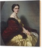 Portrait Of Sophia Petrovna Naryshkina Franz Xavier Winterhalter Wood Print