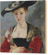 Portrait Of Susanna Lunden Wood Print by Peter Paul Rubens