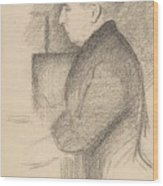 Portrait Of The Artists Mother Wood Print