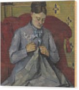 Portrait Of The Artist's Wife Wood Print