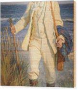 Portrait Of The Danish Painter Peder Severin Kroyer Wood Print