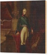Portrait Of The Emperor Alexander Wood Print