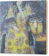 Portrait Of The Empress Dowager Cixi Wood Print by Chinese School