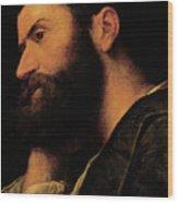 Portrait Of The Poet Pietro Aretino Wood Print