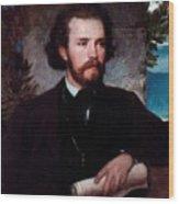 Portrait Of The Singer Karl Wallenreiter Wood Print