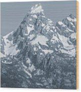 Portrait Of The Tetons Wood Print