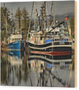 Portrait Of The Ucluelet Trawlers Wood Print