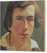 portrait of the young Arnold Bocklin Wood Print