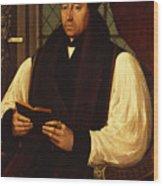 Portrait Of Thomas Cranmer Wood Print