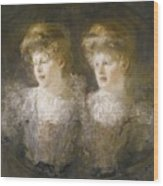 Portrait Of Two Ladies Wood Print