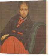 Portrait of Vera Shevtsova Wood Print