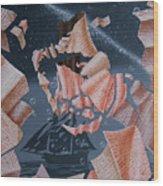 Portrait Of Vladimir Vysotsky Wood Print