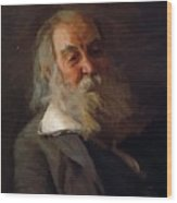 Portrait Of Walt Whitman 1887 Wood Print