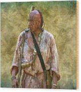 Portrait Of Warrior Bushy Run Wood Print