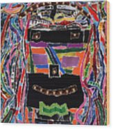 portrait of who   U  Me       or      someone U see  Wood Print
