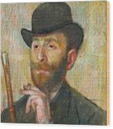 Portrait Of Zacherie Zacharian Wood Print