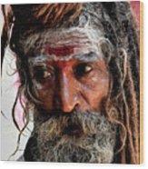 Portrait On The Ganges Wood Print
