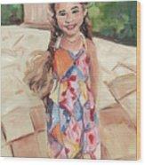 Portrait Painting Wood Print