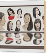 Portraits Of Lovely Asian Women  Wood Print