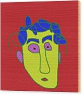 Portrait 01 Wood Print
