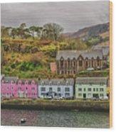 Portree Harbour Wood Print