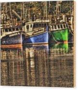 Portsmouth Boats Wood Print