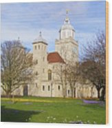 Portsmouth Cathedral At Springtime Wood Print