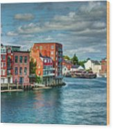 Portsmouth Harbor Wood Print