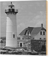 Portsmouth Harbor Lighthouse Wood Print