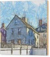 Portsmouth New Hampshire Pencil Wood Print