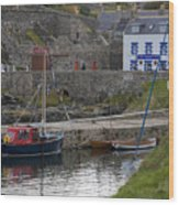 Portsoy Harbour Wood Print