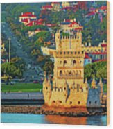 Lisbon Belem Tower From The River Wood Print
