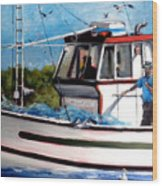 Portuguese Fishing Boat Wood Print