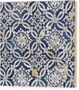 Portuguese Glazed Tiles Wood Print