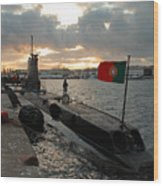 Portuguese Navy Submarine Wood Print