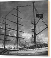 Portuguese Tall Ship Wood Print