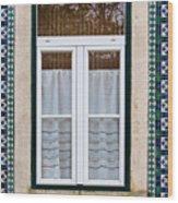 Portuguese Window Wood Print