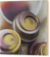 Portwine Infused Chocolates Wood Print