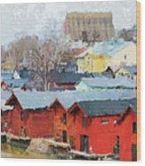 Porvoo Town Wood Print