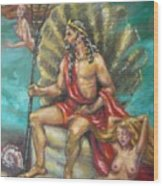 Poseidon Wood Print