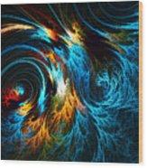 Poseidon's Wrath Wood Print