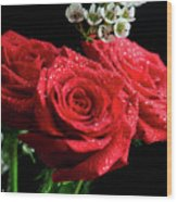 Posey Of Roses Wood Print by Tracy Hall