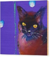 Posh Tom Cat Wood Print